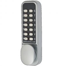 BL2202 ECP bijzet codeslot voor smalle deurstijlen met alu dag/nachtschoot