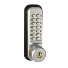 BL2705 code bijzetslot met opbouw schoot en knop met sleutels